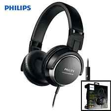Philips DJ STYLE On-Ear HEADPHONES Stereo Headband Powerful Bass Headset BLACK
