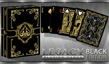 CARTE DA GIOCO BLACK LEGACY LIMITED EDITION,poker size