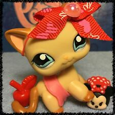 Littlest Pet Shop RARE CARAMEL SWIRL CURL SHORT HAIR CAT #1024 DISNEY TSUM TSUM