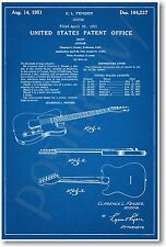 Fender Guitar Patent - NEW Vintage Invention Patent Poster