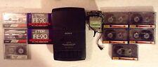 Sony tcm-939 COMPATTO LETTORE DI CASSETTE, Adattatore originale 6v & 10 Cassette a nastro.