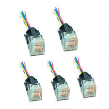 5pack 12V Volt DC 80A AMP SPDT 5PIN 5wire Car Auto  Relay & Socket