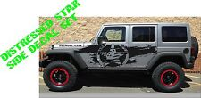 Distressed American Flag star side body decal kit to fit jeep wrangler style