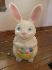 """Vintage Empire Easter Bunny Blow Mold Lighted Yard Decoration - 22"""""""