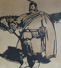 William Nicholson 1898 Types de Londres London Le Tambour-Major Drum-Major
