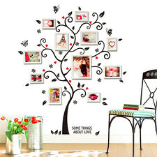 Chic Black Family Photo Frame Tree Mural Wall Sticker Home Decor Room Decals