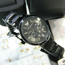 Emporio Armani AR2453 Stainless Steel NEW BLACK  with-boxes