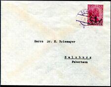 LIECHTENSTEIN 1920 12I verwechselter AUFDRUCK auf BRIEF SELTENHEIT 800€(S7665