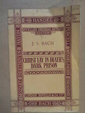 vocal score BACH Christ lay in deaths dark prison