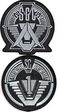 "Stargate SG-1 & Command Logo 4"" Uniform Patch Set of 2-FREE S&H (SGPA-Set2L)"