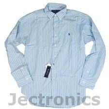 New Ralph Lauren Polo Mens Classic Fit Button Bleecker Blue Striped Shirt- XXL