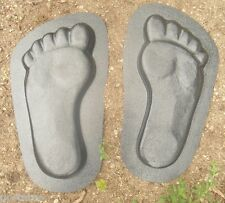 """plaster,concrete  footprint plastic molds see 5000 molds in my ebay store 13""""L"""