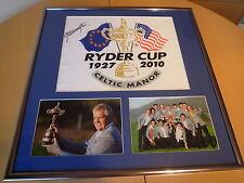 Signé Colin montgomorie signé pin drapeau encadrée display - 2010 Vainqueur de tasse de Ryder