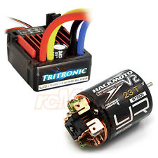 Yeah Racing Tritronic Waterproof 60A ESC V2 23T Brushed Motor Car Combo #CB0813
