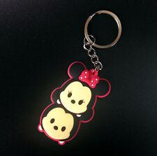 NEW PVC Mickey and minnie Silica gel Keychain Keyring