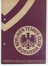 Tennis Borussia Berlin - Vereinsnachrichten - Januar 1960