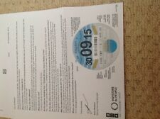 Car tax disc very rare 30/09/15 on unperforated paper last one ever