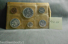 Canada Uncirculated VOYAGEUR 1963 PL 6 Coin Set Part Silver ungraded CA-15
