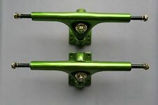 SPEEDTHRON 265 mm LONGBOARD TRUCKS ACHSEN EXTRA BREIT SKATEBOARD Green Polish