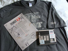Bundle: Thunder : All You Can Eat Deluxe 2CD & DVD Set XL T Shirt & SIGNED Print