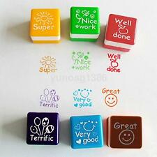 Set of 6 Teachers Stampers - School Praise and Reward Stamps - Self Inking