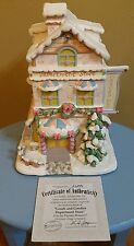 """2003 Precious Moments Christmas Village """"Goods and Goodies Department Store"""" COA"""