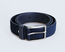 belt SMART CASUAL man BLUE belt SUEDE