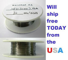 Kanthal 28 AWG 0.3204mm A-1 Wire 100ft Roll (30 meters) 5.27 Ohms/ft Resistance