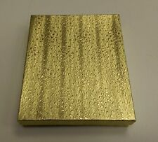 """Cotton Filled #8 Gold Foil Boxes 75G 7 1/8"""" x 5 1/8"""" x 1-1/8"""" Box of 100"""