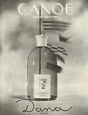 Publicité Advertising 1963  Parfum  CANOE de DANA eau de cologne