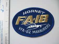 USN VFA-82 MARAUDERS HORNET FA-18 FIGHTER SQUADRON Pocket Patch Factory Type