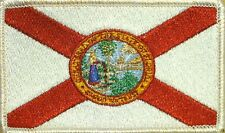 FLORIDA STATE Flag Iron-On Tactical Morale Army Patch White Border #5