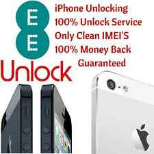UK EE iPhone 5S 5C 6 6+ Factory Unlock 100% Permanent Unlocking Only Clean IMEI