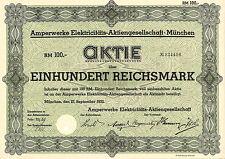 Amperwerke Elektricitäts-AG 100 RM 1932 München