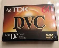 TDK DVC MiniDV Digital Video Cassette 60/SP 90/LP Factory Sealed NEW