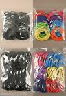 PACK OF 100 HAIR ELASTICS : CHOOSE COLOUR / CHOOSE THICK OR THIN : WHOLESALE