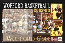 2002-03 Wofford Terriers Basketball Magnet Schedule