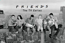 FRIENDS - LUNCH ON A SKYSCRAPER POSTER - 24x36 OVER NEW YORK TV SHOW 5480