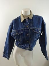 LEVI'S 900 SERIES WOMENS MED WASH CROPPED BLUE JEAN JACKET SIZE M SUPER CUTE