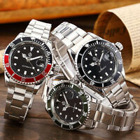 Luxury Men's Automatic Mechanical Date Stainless Steel Fashion Wrist Watch