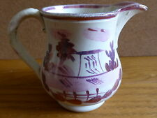 Small Antique Sunderland Pink Lustre Jug from 19th Century?