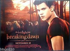 TWILIGHT BREAKING DAWN PART 1 QUAD POSTER TAYLOR LAUTNER WEREWOLF 2011