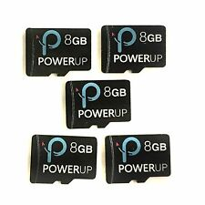 JOB LOT 5X PowerUp 8GB Micro SD Memory Cards