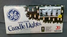 GE General Electric CANDLE LIGHTS String A Long 20 Light SET Christmas Tree WORK