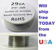 Kanthal 29 AWG 0.28702mm A-1 Wire 100ft Roll (30 meters) 6.55 Ohms/ft Resistance