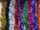 2m (6.5 Ft) Christmas Tinsel Tree Decorations Tinsel Garland RED SILVER GOLD