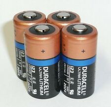 4 - Duracell Ultra 123 CR123 CR123A 3v Battery - dated 2024 - Made in USA !!