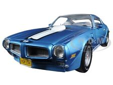 1972 PONTIAC FIREBIRD TRANS AM BLUE 455 HO LTD TO 1002PC 1/18  AUTOWORLD AMM1076