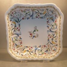 NEW Small Square Dish ' Pompadour ',Toscana Pattern GIEN New