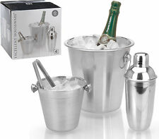 Cocktail Mixerset 4 tlg. Edelstahl Mixerset Cocktail Bar Set Mixer Shakerset